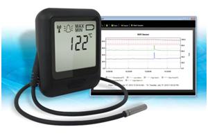 Registrador de temperatura inalámbrico con sensor externo