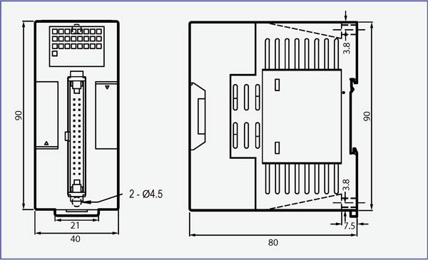 Dimensiones del FBs-DAP-B(R)