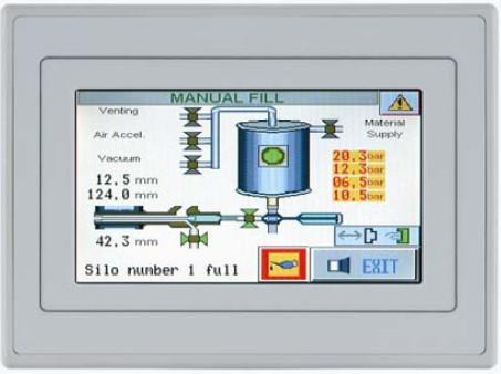 Pantallas HMI con touchscreen ZTOP04C