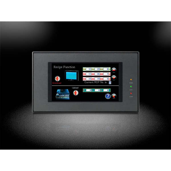 """Pantalla HMI con touchscreen de 4.3"""" con soporte para Ethernet"""