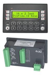 Pantalla HMI con controlador lógico programable